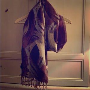 Cynthia Rowley purple scarf